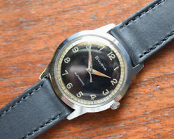 Vintage Bulova Automatic Stainless Steel Watch Luminous Dial Hands Chapter Ring