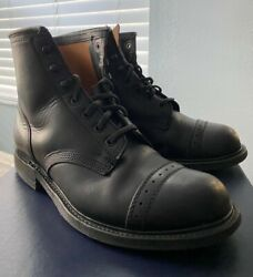 Rll Double Rl Bowery Boot 8 Black Leather Lace Made In England