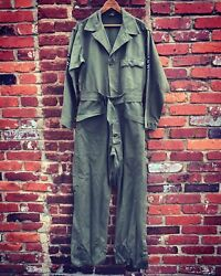 Vintage Wwii Us Army Military Hbt 13 Star Button Uniform Suit Coverall. Sz.38r