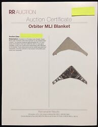 Space Shuttle Program 15 X 45 Mli Blanket Red Flex Tag And Rr Auction Certificate