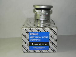 Konica Hexanon 35mm / F 2 Lens Limited Production 1000 Pieces