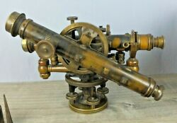Early Wandle Gurley Wye Mining Transit Or Theodolite With Rare Auxiliary Telescope