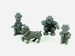 Marx Super Circus Sideshow Animals Dog Monkey Vintage Playset 1950s Rubber A17