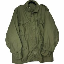 Vintage 70s 1973 Vietnam Army Field Jacket Coat M65 Size Large Long Usa Military