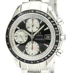 Polished Omega Speedmaster Date Steel Automatic Mens Watch 3210.51 Bf535531