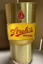 Vintage Stroh's Beer Sign. The Gold Cylinder One. 13 Tall