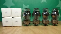 Matched Quad Of Tung-sol 6550 Solid Plate 1963 Old Stock Vacuum Tubes 1