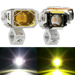 60w 3000lm Motorcycle Led Driving Lights Amber/white Fog Spot Lights Waterproof