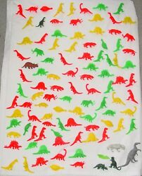 103 Piece Vintage Lot 1960and039s / Early 1970and039s Era Marx Plastic Toy Dinosaurs