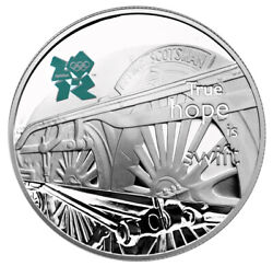 Great Britain Uk Andpound5 2009 Silver Proof True Hope Is Swift - Flying Scotsman
