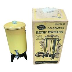 Vintage Mirro Matic Harvest 22 Cup Electric Coffee Percolator M92934-35