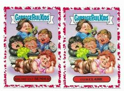 2018 Garbage Pail Kids We Hate The And03980s Lot Of 157/180 Blood Red Parallel /75