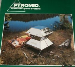 Pyromid Outdoor Cooking Systems 12 Eagle Foldable Charcoal Grill/stove Unused