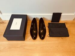 John Lobb Limited Edition Hayes Monk Strap Black Leather Shoes Rrp Andpound1900 Uk 10