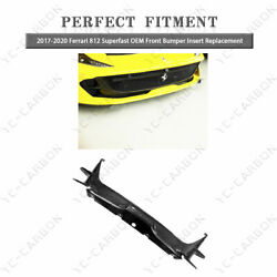 Dry Carbon For Insert Replacement 17-20 Ferrari 812 Superfast Front Bumper Aero