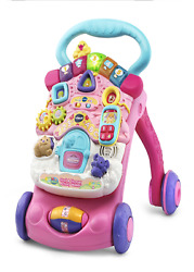 Baby Girl Activity Walker Infant Pink Push Car Toy Playset Musical Play Set Cart