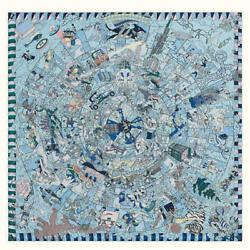 Hermes Shawl Scarf Stole Land039epopee Dand039hermes Sky Blue Cashmere Silk Woman New 140