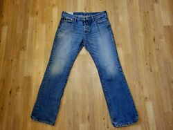 Men's 34 X 32 Abercrombie And Fitch Classic Straight Button Fly Denim Jeans