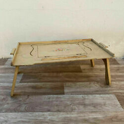 Vintage Wooden French Breakfast In Bed Tray Table Reading Lap Desk 1510216