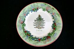 Vintage Spode Porcelain Christmas Tree Pattern Annual Collector Plate 2008 W Box