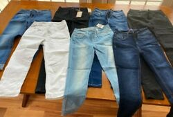 7 Pairs Of Womenand039s Wallflower Size 3 Stretch Denim Jeans - Some W/ Tags