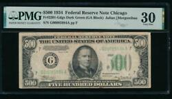 Ac 1934 500 Five Hundred Dollar Bill Chicago Pmg 30 Comment