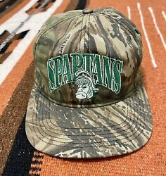 Vintage Michigan State Spartans Lids Hunting Camo Snapback Hat