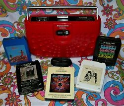 Panasonic 8 Track Red Stereo Portable Swiss Cheese Rs-833s Watch Video