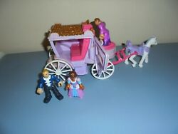 Fisher-price Imaginext Precious Places Swan Palace Princess Carriage, Horse,