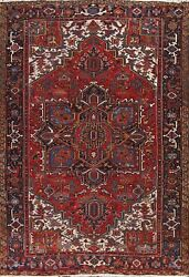 Antique Geometric Traditional Oriental Area Rug Hand-knotted Wool Carpet 8x11 Ft