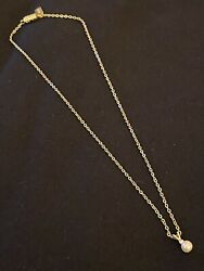 Vintage 1928 Petite Faux Pearl And Rhinestone 14andrdquo Gold Necklace