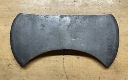 Vintage Unmarked Double Bit Axe Michigan Or Crown Pattern 3 Pounds