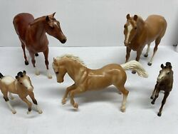 Vintage Breyer Horse lot of 5 Horses Free Shipping Traditional And Multisize