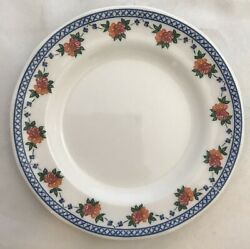 Wedgwood England 1991 Trellis Rose Bread And Butter Plates4blue And Pink Floral