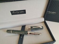 Montegrappa Extra And039arte Decoand039 Le Shiny Lines Celluloid Fountain Pen - Boxed