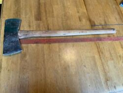 Vintage Double Bit Axe With Good Homemade Handle