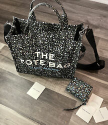 Marc Jacobs Ditsy Floral Tote Bag And Wallet Set W Paperwork $220.00