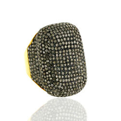 6.01ct Pave Diamond Vintage Look Ring 14k Solid Gold 925 Sterling Silver Jewelry