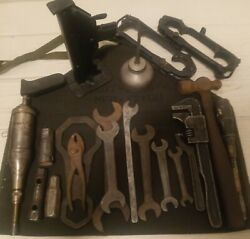 Dodge Bros Tool Kit And Jack For 4 Cylinder Cars With Zerk Grease Gun.