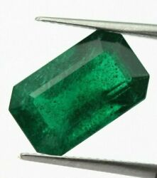 5.74 Ct Natural Emerald Dark Green Color 13x8 Loose Octagon Cut Certified Zambia