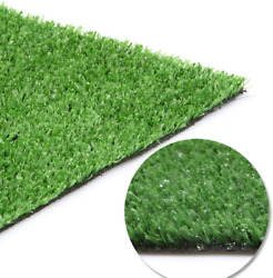 Artificial Grass Turf Lawn Fake Grass Mat 0.4inch Pile Height Thick Synthetic Tu