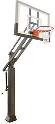 First Team Triple Threat In-ground Adjustable Basketball Goal Hoop With 54 Glas