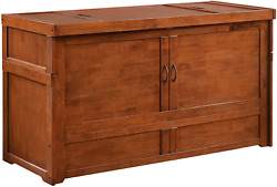 Night And Day Furniture Murphy Cube Cabinet Bed, Queen, Cherry