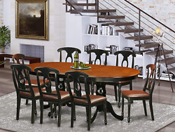 East West Furniture 9 Pc Dining Room Set-dining Table With 8 Wooden Dining Chair