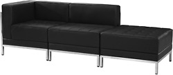Flash Furniture Hercules Imagination Series Black Leathersoft 3 Piece Chair And Ot