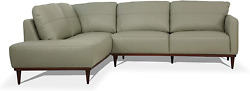 Acme Tampa Sectional Sofa - - Airy Green Leather