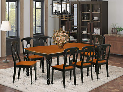 9 Pc Kitchen Tables And Chair Set With One Dover Dining Table And 8 Kitchen Chai