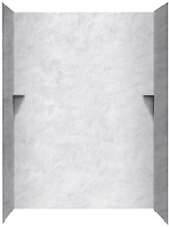 Swan Sk366072.130 Solid Surface Glue-up 5-panel Bathtub Wall Kit 36-in L X 60-i