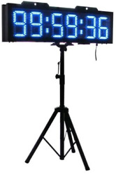Bestled 8 6 Digits Double Sided Led Race Timing Clock Marathon Race Timer Suppo