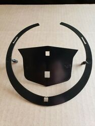 6 Cadillac Wreath And Crest Mounting Plate Emblem With Hardware